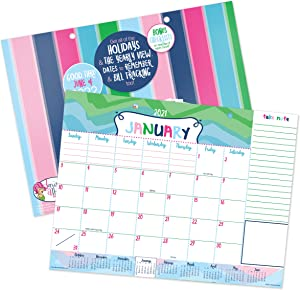 Reminder Binder 18-Month 2021-2022 Monthly Desk Calendar with Tear-Off Lists   Scheduling Tools   Bill Pay Worksheet   Dry Erase Backer and More
