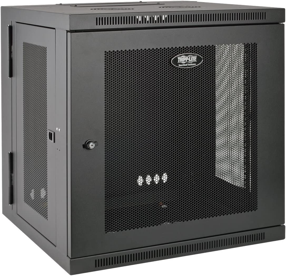 "Tripp Lite 12U Wall Mount Rack Enclosure Server Cabinet, Hinged, 20.5"" Deep, Switch-Depth (SRW12US)"