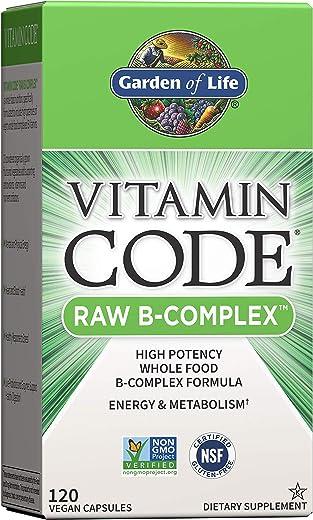 Garden of Life Vitamin B Complex - Vitamin Code Raw B Vitamin Whole Food Supplement, Vegan, 120 Capsules, Packaging May Vary