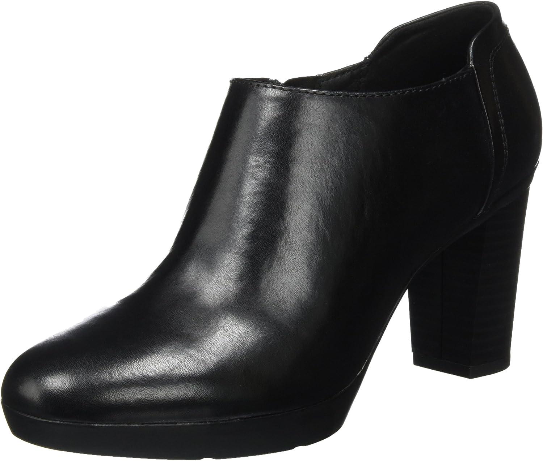 TALLA 38.5 EU. Geox D Inspiration Plateau C, Zapatos de Tacón para Mujer