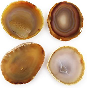 Set of 4 Thirstystone Natural Agate Coasters