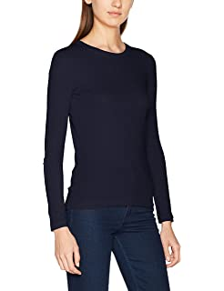 Petit Bateau - T-shirt - Uni - Col rond - Manches longues - Femme ... 12f76291e2ee