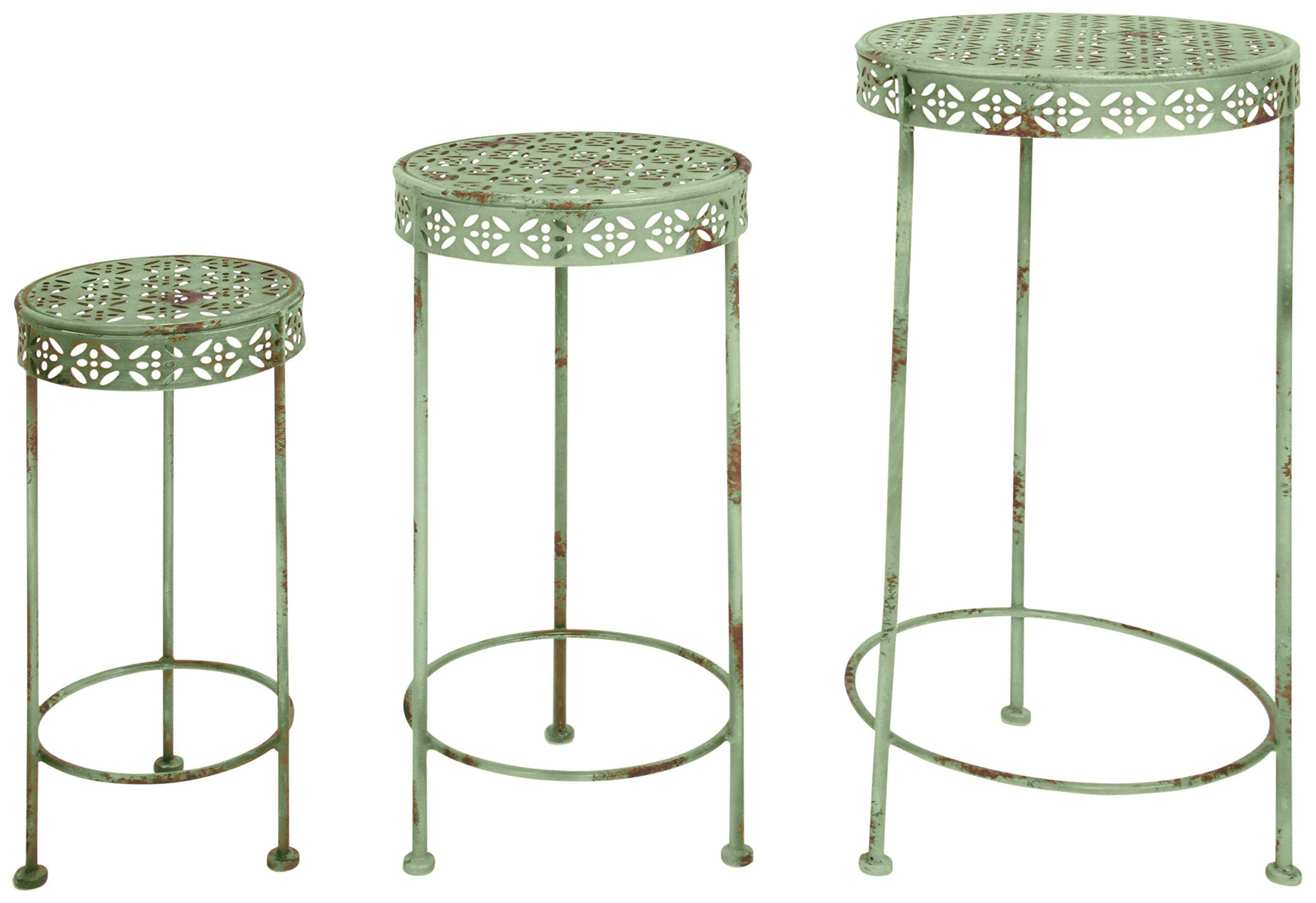 Esschert Design Industrial Heritage Plant Tables, Set of 3