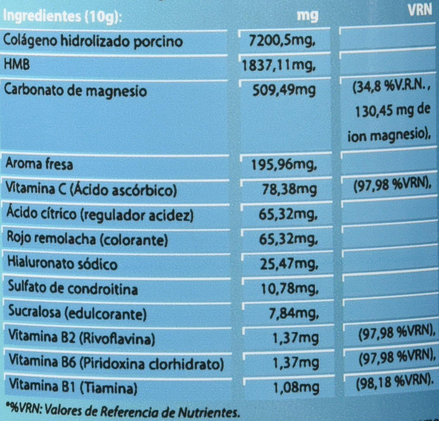 Tulcop Colágeno con HMB, Magnesio, Ácido Hialurónico y Condroitina Active - 306 gr: Amazon.es: Salud y cuidado personal
