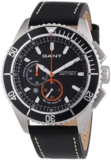 Gant Seabrook Chrono W70544 - Reloj para hombres, correa de cuero color negro