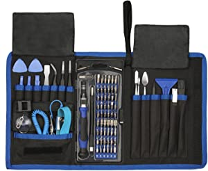 80 in 1 Precision Screwdriver Set,Magnetic Screwdriver Bit Kit,Professional Electronics Repair Tool Kit with Flexible Shaft,Portable Bag for PS4/Laptop/iPhone8/Computer/Phone/Xbox/Tablets/Camera/Watch