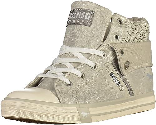 Mustang - Zapatillas Niñas , color plateado, talla 39: Amazon.es: Zapatos y complementos