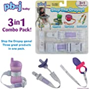 Stop the Dropsy 3-in-1 Pack for sippy cup, pacifier, toys (Lavender Love)