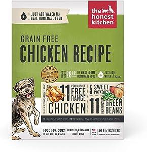 The Honest Kitchen Dehydrated Grain Free Chicken Dog Food Recipe, 7 lb Box
