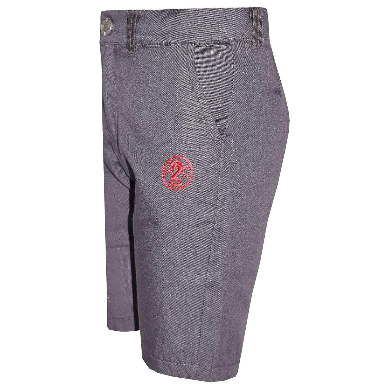 A2Z 4 Kids/® Boys Summer Shorts Kids Cotton Grey Chino Shorts Knee Length Half Pant New Age 2 3 4 5 6 7 8 9 10 11 12 13 Years