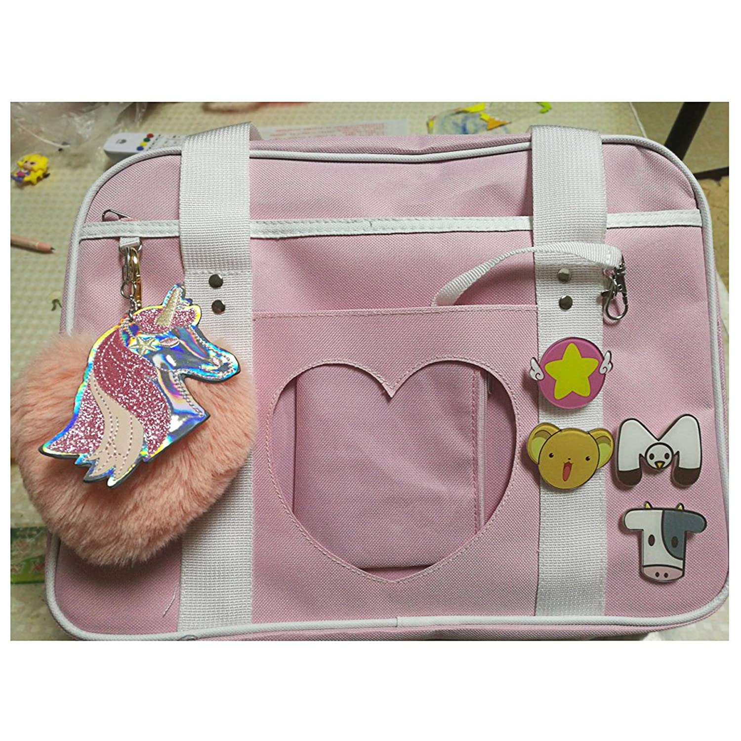 SteamedBun Ita Bag Heart Japanese Bags Kawaii Large Shoulder Anime Purse