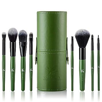 Brochas Maquillaje Pack de 8 piezas con Funda Incluida Eclat - Pack de 8 Piezas Brochas Maquillaje Bolsa de Transporte Resistente Cabezales Suaves y ...
