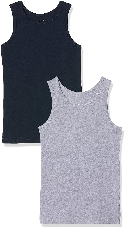 79defea26fbc0 Name It Nkmtank Top 2p Noos Maillot De Corps, Multicolore Grey Melange, 158  (Taille Fabricant: 158-164) (Lot de 2 Garçon: Amazon.fr: Vêtements et ...