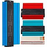 3 Pieces Contour Gauge, Plastic Outline Profile Shape Contour Duplications Guage Duplicator Kit, Irregular Shapes…