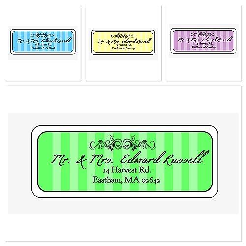 amazon com madison stripe personalized address labels set of 30