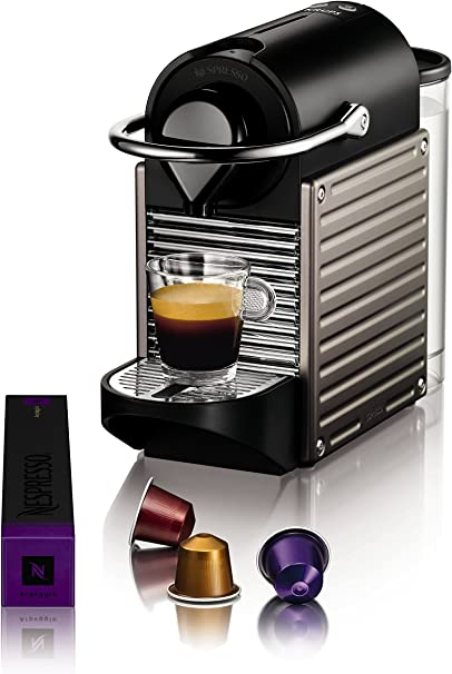 Nespresso Pixie Krups YY1201 - Máquina de café, apagado automático, sistema calentamiento rápido, 1260 W, 0.7 L, titanio: Amazon.es: Hogar