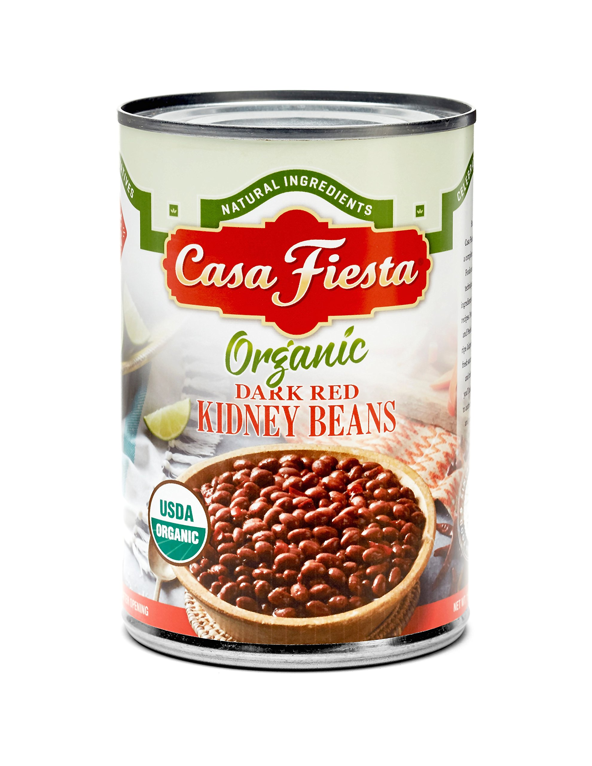 Casa Fiesta Organic Dark Red Kidney Beans 15oz 12 pack