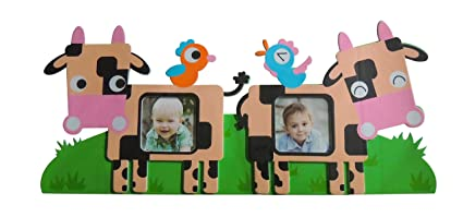 Wall decor Picture Collage Frame Adorable Designs Great Baby Shower Gift Easy Hanging Soft Foam Frame Bears /& Honey Great for Nursery or Playroom