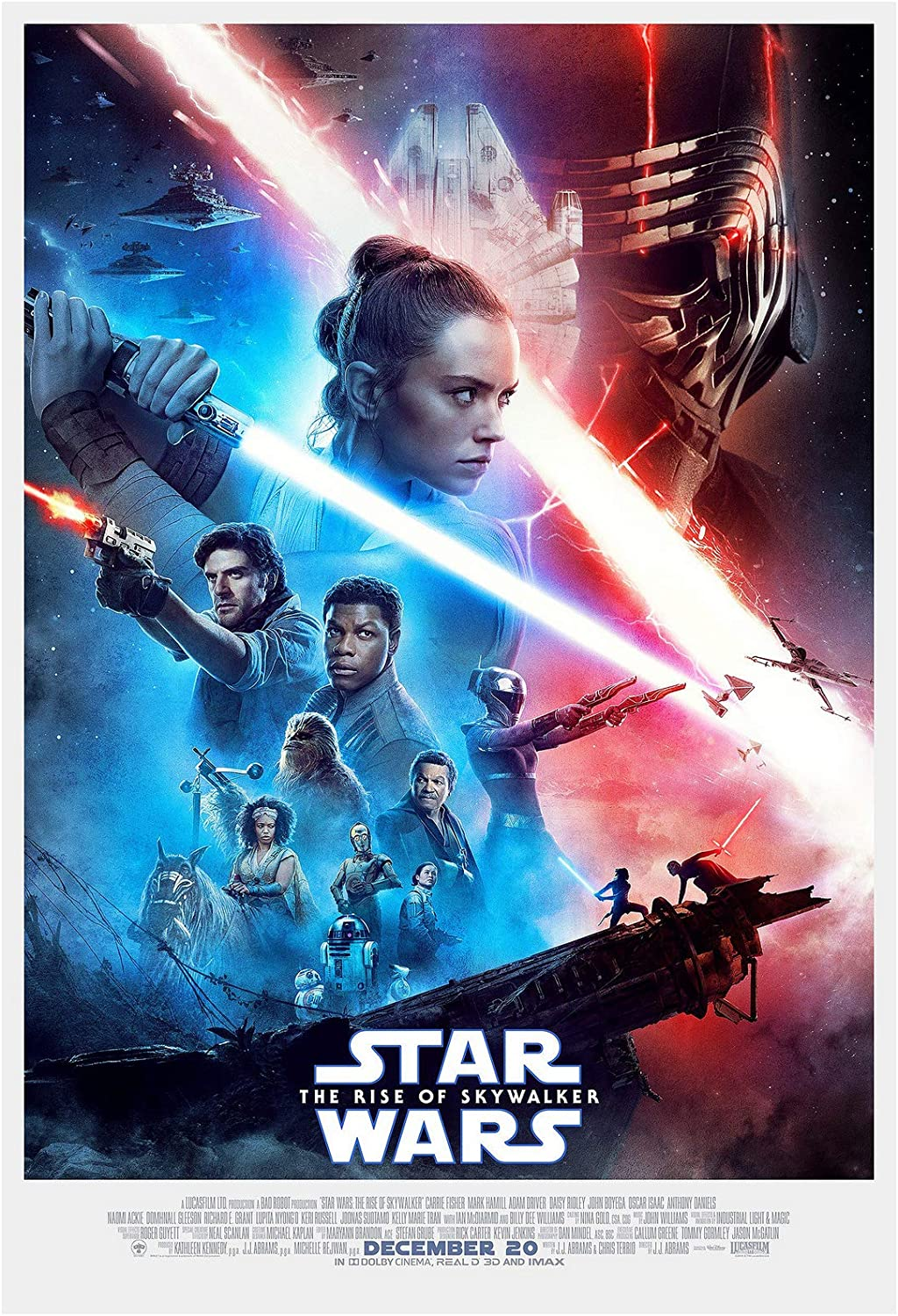 Amazon Com Star Wars The Rise Of Skywalker Movie Poster 24 X 36 Inches Usa Shipped Print Ready For Display 2019 Poster Version A Posters Prints