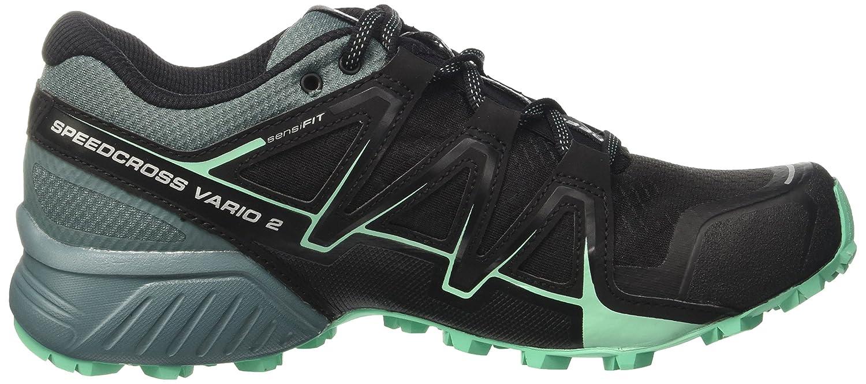 Salomon Damen Speedcross Vario 2 Trailrunning-Schuhe, Schwarz/Blau (Black/North Atlantic/Biscay Green), Gr. 41 1/3