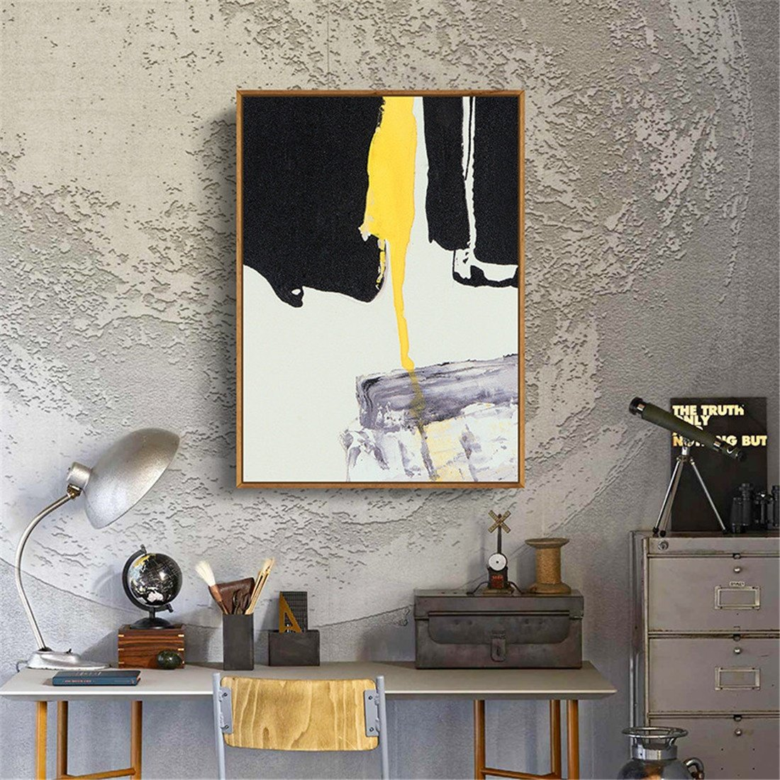 BENJUNPintura Amarilla Abstracta de la la la Cáscara Pintura Moderna del Fondo del sofá Pintura Nórdica de la Pared Decoración de la Sala Que Pinta la Atmósfera Simple (los 52  72cm), b 4fb86d