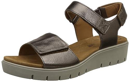 68eb36544e98 Clarks Women s Un Karely Bay Metallic Bronze Leather Fashion Sandals-4.5 UK  India (