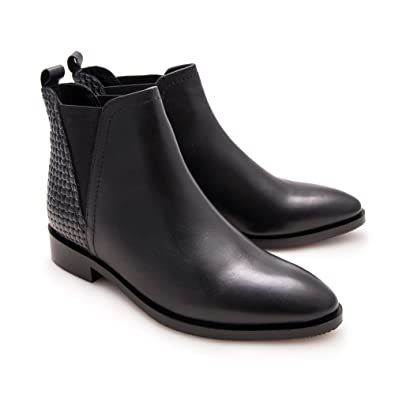 Zerimar Womens Leather Ankle Boot Women Shoes Smart Casual | Women Elegant Shoes Color Black36 Size