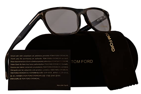 b175a358713c1 Tom Ford FT5431 Eyeglasses 53-16-145 Horn Brown w Demo Clear Lens ...