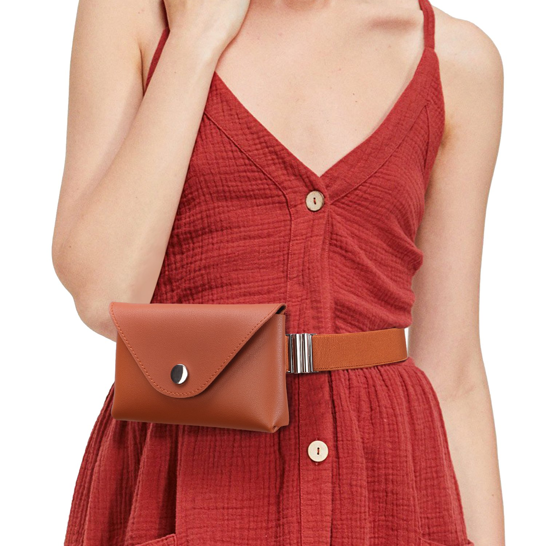 Fanny Packs For Women Fashion Waist Purse Elastic Belt Waist Bag Waist Leather Wallet Waist Pouch For Women