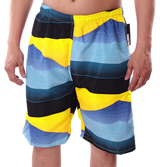 644ac9da00 Banana Split Men s Board Short Swim Trunks Summer Water Sport Outdoor Mesh  Lined Yellow Medium