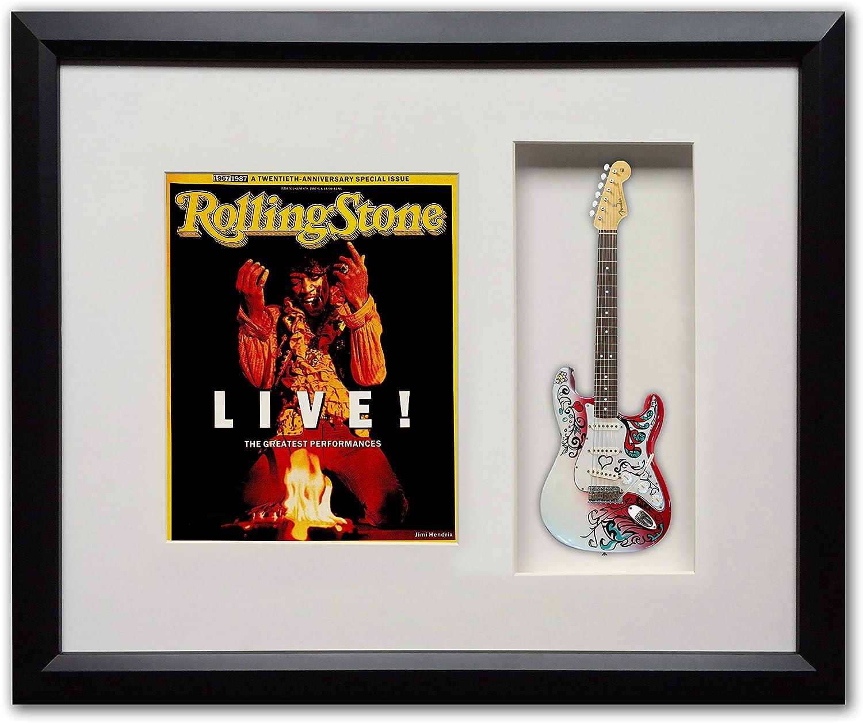 Jimi Hendrix Monterey Pop Festival Guitarra Shadow Box Memorabilia ...