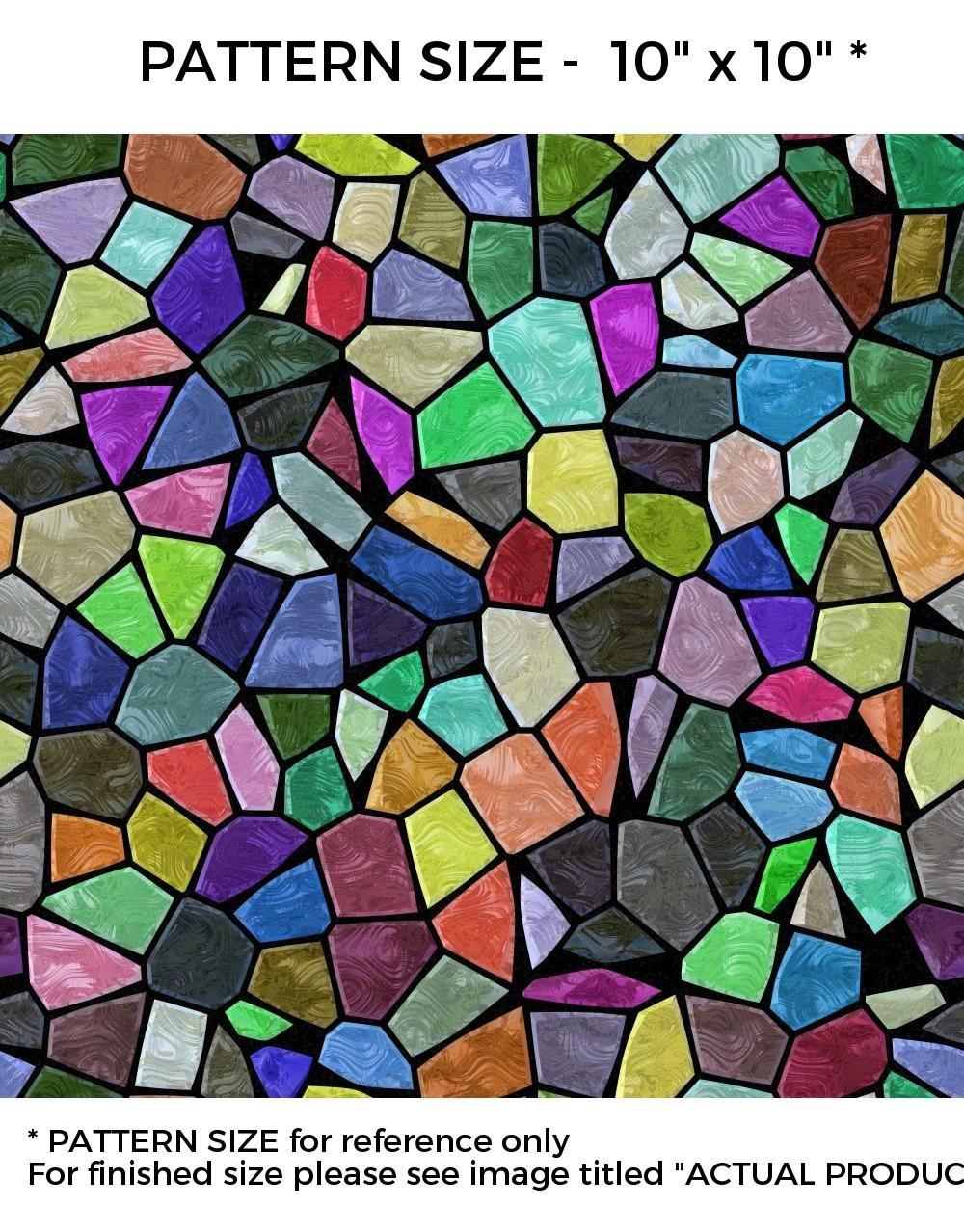 WindowPix 12 x 36 Multi-colored Victorian Pattern Window Film Static Cling Film UV Filtering Energy Saving