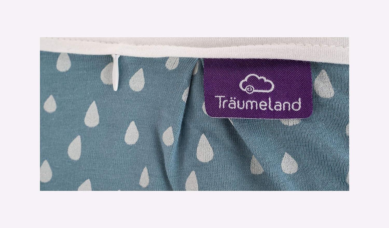 Tr/äumeland S0102701 Au/ßenschlafsack LIEBMICH Tropfen Ozeanblau 44 mehrfarbig