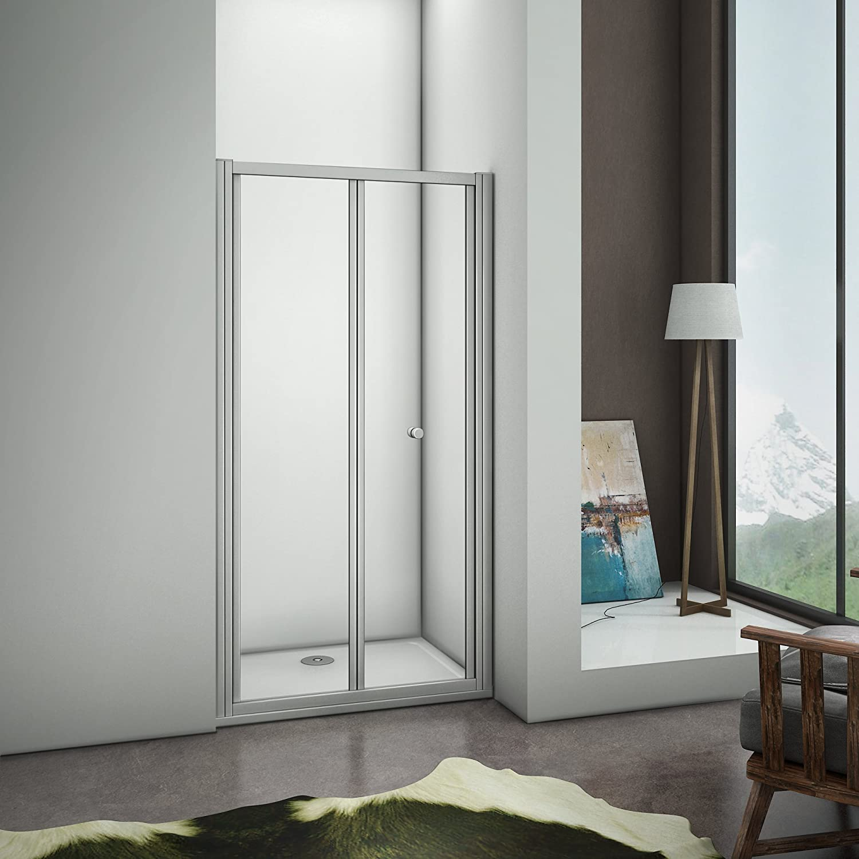 Mamparas Puerta Abatible Pantalla de Ducha 5mm cristal para 80x185cm