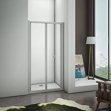 Mamparas Puerta Abatible Pantalla de Ducha 5mm cristal para 80x185cm: Amazon.es: Bricolaje y herramientas