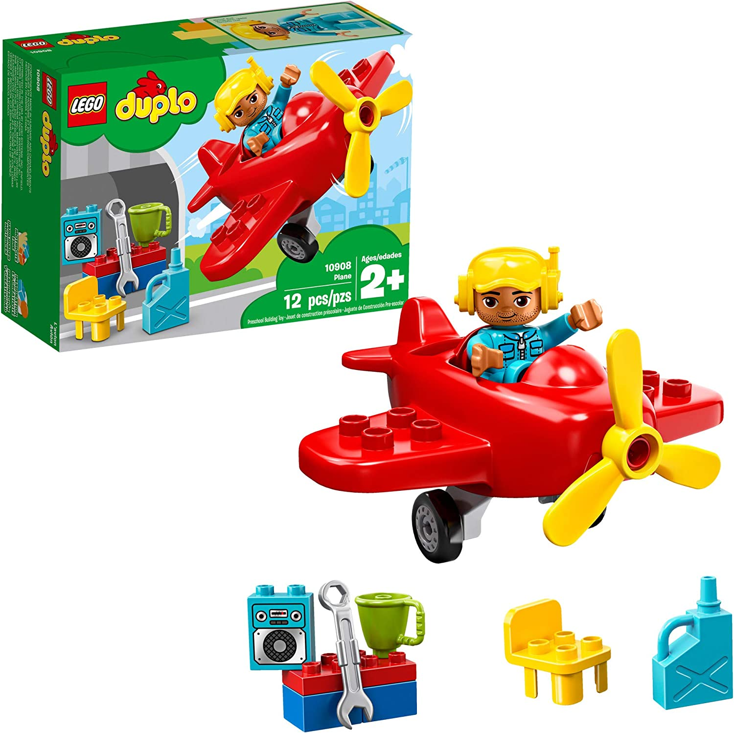 LEGO DUPLO Town Plane 10908 Building Blocks (12 Pieces)