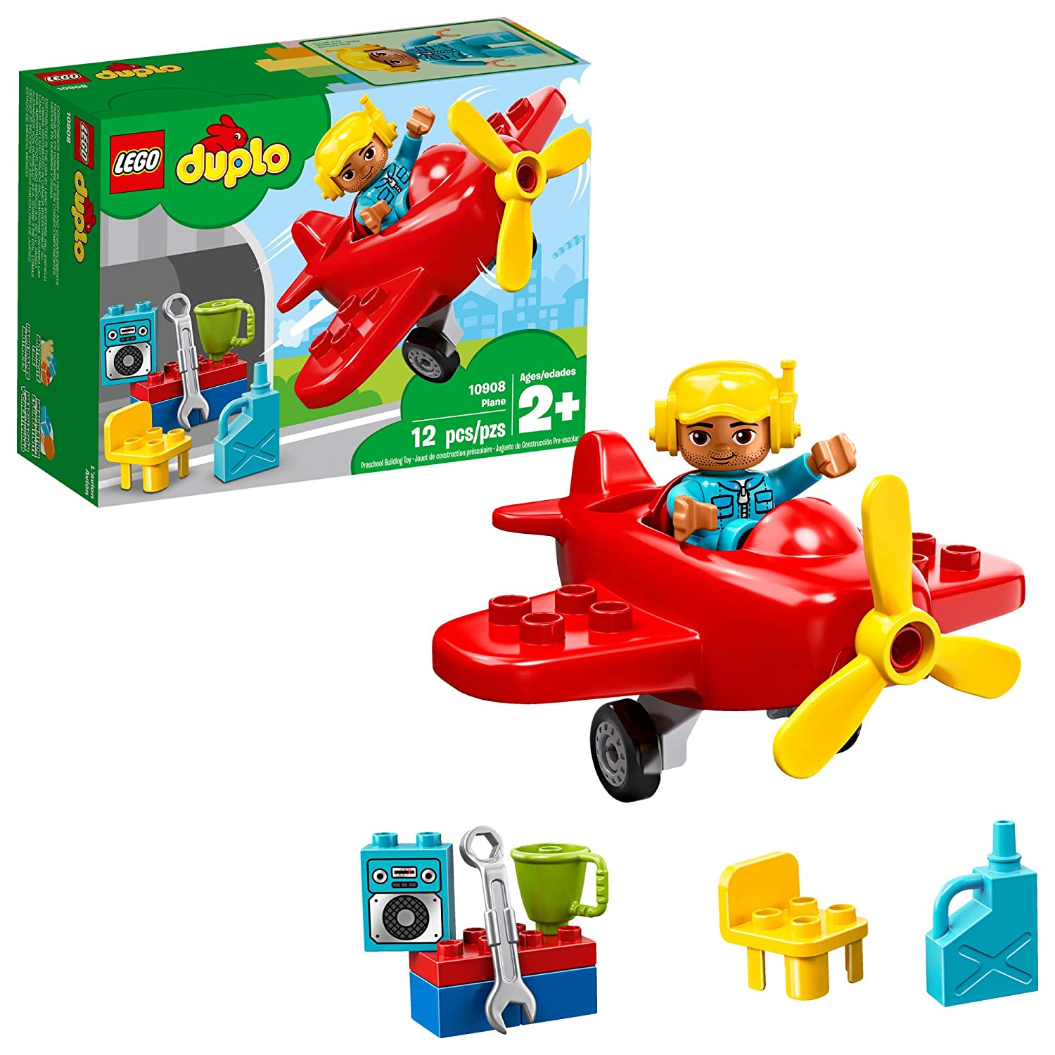LEGO DUPLO Town Plane 10908 Building Blocks 12 Pieces