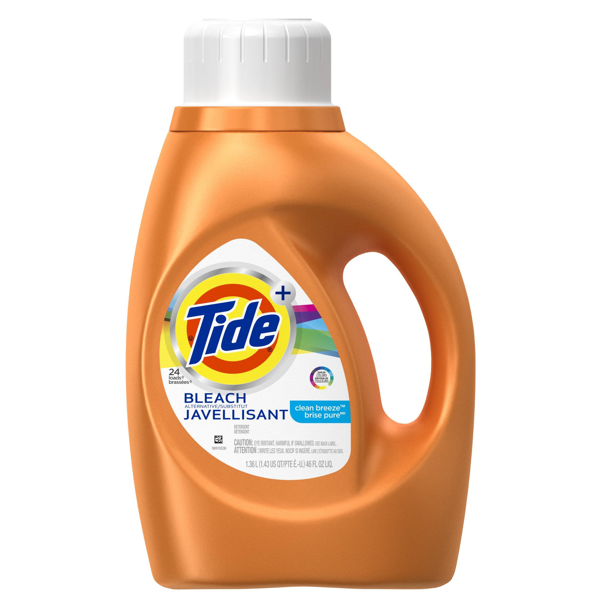 Tide Plus Bleach Alternative Liquid Laundry Detergent - 46 oz - Clean Breeze
