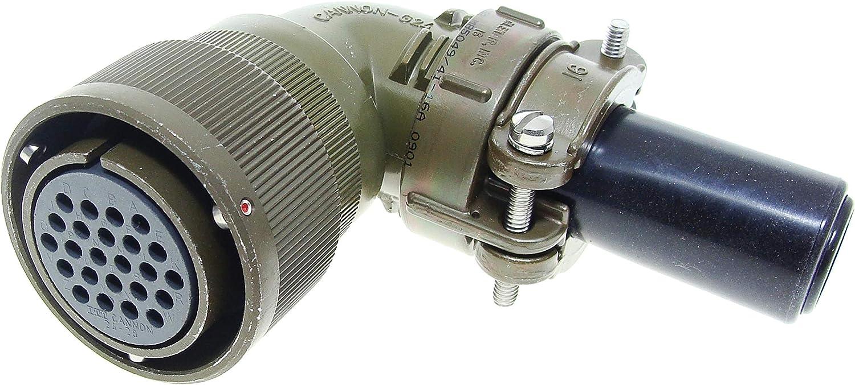Crimp Socket Circular Connector CA3108F24-2SB14F0 Right Angle Plug CA-B Series Contacts Not Supplied CA3108F24-2SB14F0 7 Contacts