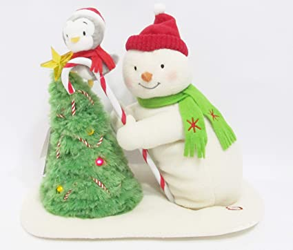 Amazoncom Trimming The Tree Snowman Techno Plush Home Kitchen