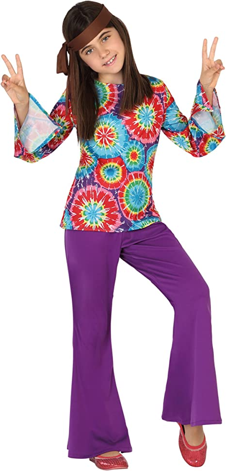 Atosa - Disfraz Hippie para niña, talla L, 7-9 años (111-28459 ...