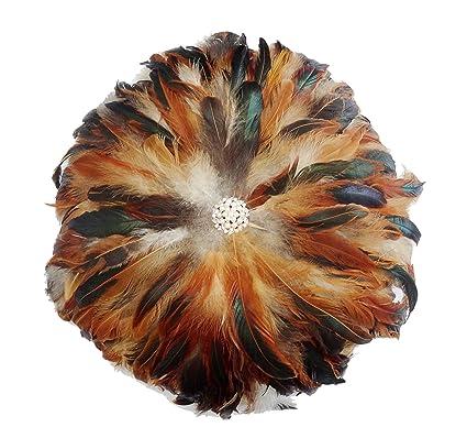 Amazon.com: L vow Real plumas naturales perla, para el ...
