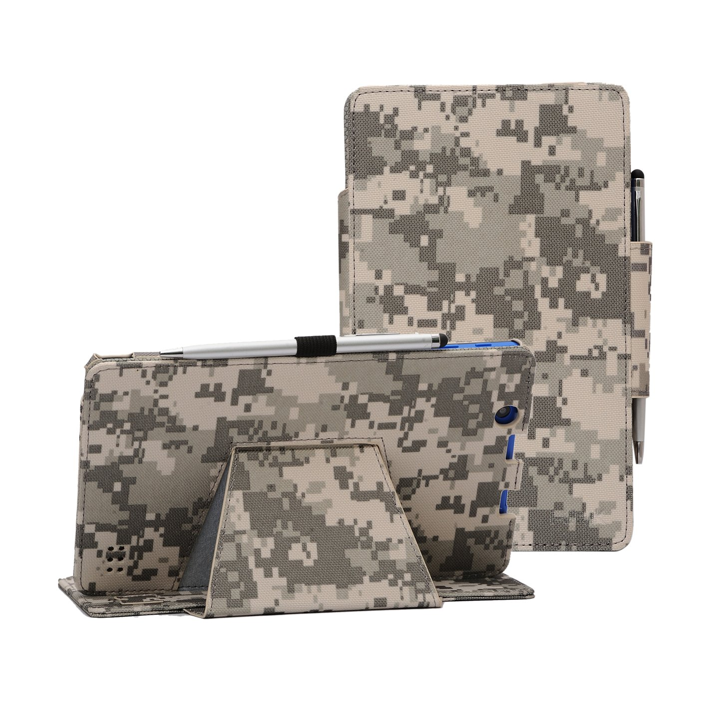 i-UniK Nextbook Ares 8A Compatible Model #NX16A8116 K/R/B/S Android 6.0 Tablet Cover CASE [Bonus Stylus] (ACU Digital Camo)