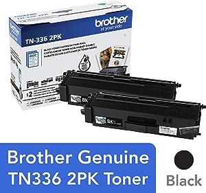 Brother Genuine High-Yield Black Toner Cartridge Twin Pack TN336 2PK
