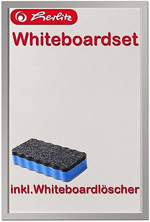 Staedtler Whiteboardmarker mit Herlitz Whiteboard Whiteboardschwamm Löscher Set