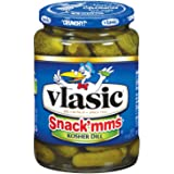 Vlasic Snack'mms Pickles, Kosher Dill Minis, Keto Friendly, 24 Ounce (Pack of 12)