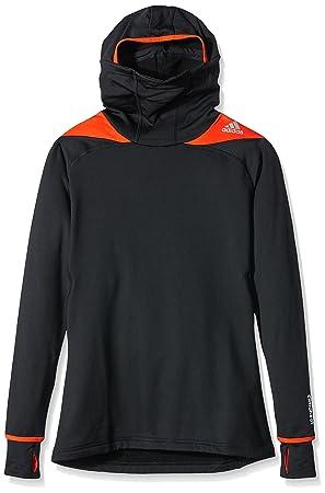 Adidas Techfit Heat Hero Haut Manches Longues Homme Black Bold Orange FR    XL ( 65c7b7f4a3fd