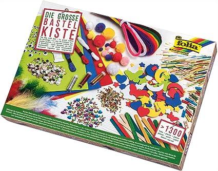 Folia 935 Bastelkiste Bunter Materialmix Zum Basteln Und Dekorieren über 1300 Teile