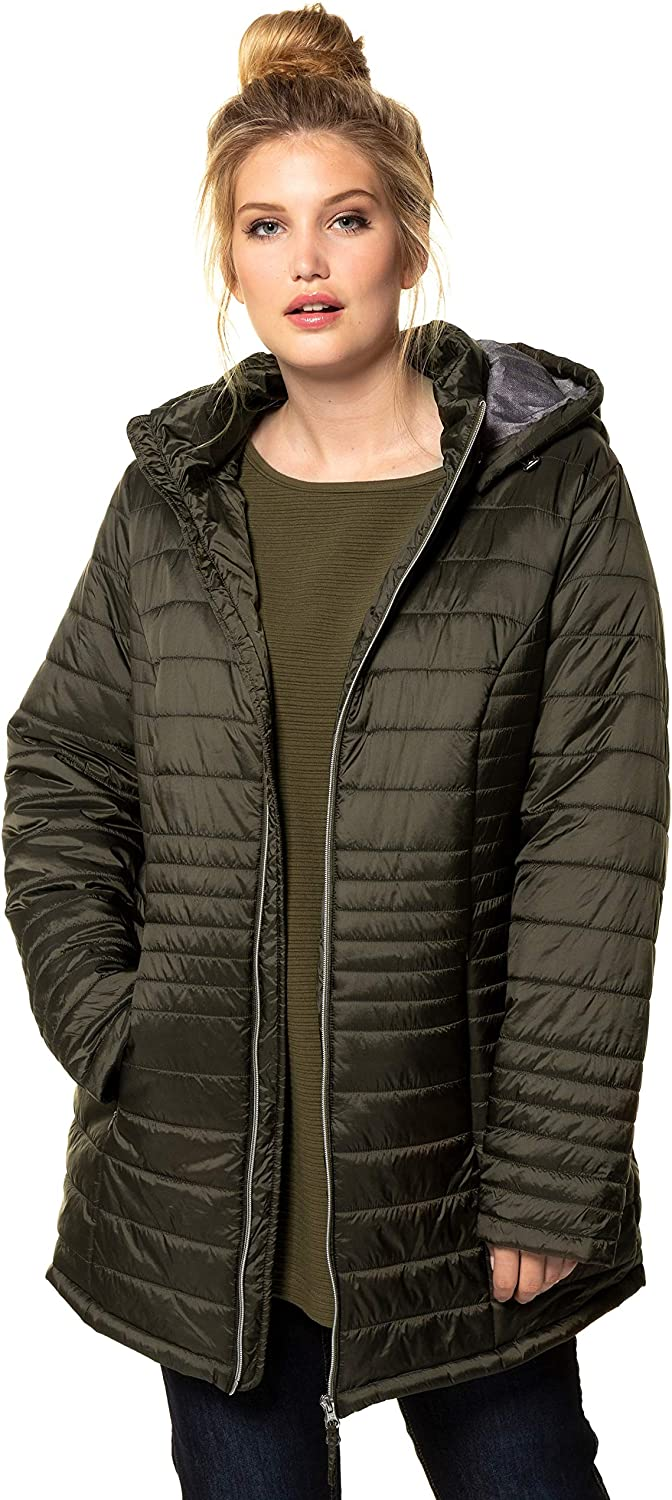 Ulla Popken Womens Plus Size Square Quilted Jacket 717675