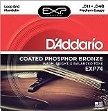 D'Addario EXP74 EXP Coated Phosphor Bronze Medium  (.011-.040) Mandolin Strings